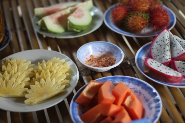 Orgie de fruits tropicaux... on en aura jamais assez !